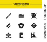 medical icons set with heart...