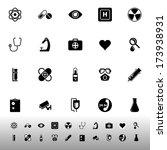 general hospital icons on white ... | Shutterstock .eps vector #173938931