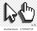 cursor set | Shutterstock .eps vector #173940719