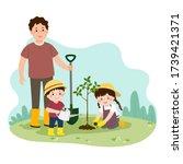 vector illustration of a... | Shutterstock .eps vector #1739421371