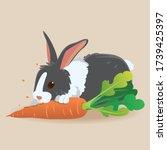 vector illustration of cartoon... | Shutterstock .eps vector #1739425397