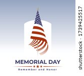 memorial day in usa with... | Shutterstock .eps vector #1739425517