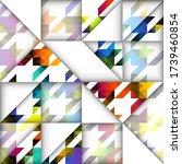 paper cut shapes design pattern.... | Shutterstock .eps vector #1739460854