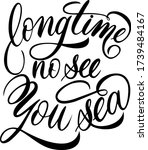 long time no see you sea. hand... | Shutterstock .eps vector #1739484167
