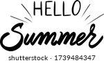hello summer. printable vector. ... | Shutterstock .eps vector #1739484347