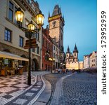 prague  old city hall on the... | Shutterstock . vector #173952959