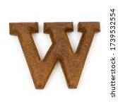 Wooden Letters W English...