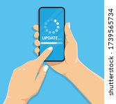system software update and... | Shutterstock .eps vector #1739565734