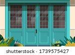 street cafe exterior modern... | Shutterstock .eps vector #1739575427