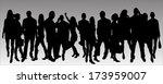 vector silhouette business... | Shutterstock .eps vector #173959007