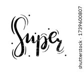 hand drawn calligraphy of the... | Shutterstock .eps vector #1739600807