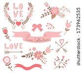 elegant love collection ... | Shutterstock .eps vector #173962535