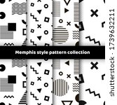 set of seamless patterns with... | Shutterstock .eps vector #1739632211
