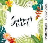 summer vibes calligraphy... | Shutterstock .eps vector #1739642021