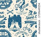 set of bmx extreme sport club... | Shutterstock .eps vector #1739649254
