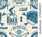 set of bmx extreme sport club... | Shutterstock .eps vector #1739649257
