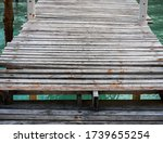 Old Wooden Pier On The Seashore