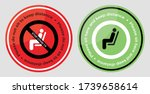 please do not sit and sit here... | Shutterstock .eps vector #1739658614