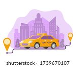 ordering taxi route and points...