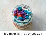 Rainbow Cake Dessert In Glass...