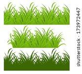 fresh green grass | Shutterstock .eps vector #173972447