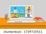 online education virtual... | Shutterstock .eps vector #1739725511