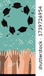 university graduation ceremony... | Shutterstock .eps vector #1739726954