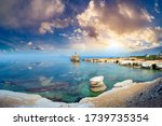 Cyprus Beach. Paphos. Panorama...