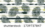 tropical pattern  graphic palm...   Shutterstock .eps vector #1739737847