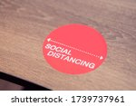 Social Distance Word Sticker On ...