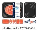 vector king salmon packaging...   Shutterstock .eps vector #1739740661