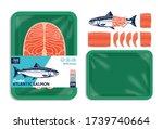 vector atlantic salmon...   Shutterstock .eps vector #1739740664