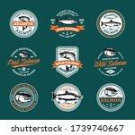 vector salmon logo on a white...   Shutterstock .eps vector #1739740667