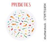 probiotics. lactic acid...   Shutterstock .eps vector #1739751854