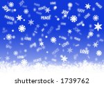 blue background with snowflakes ... | Shutterstock . vector #1739762