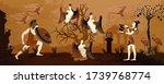 ancient greece. black figure... | Shutterstock .eps vector #1739768774