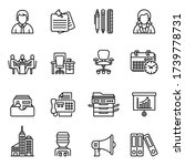 workplace and office icon set... | Shutterstock .eps vector #1739778731