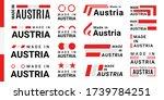 set of made in austria logotype ... | Shutterstock .eps vector #1739784251