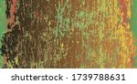 vintage scratched surface.... | Shutterstock .eps vector #1739788631
