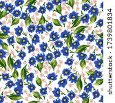 floral seamless pattern with... | Shutterstock .eps vector #1739801834