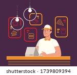 restaurant menu  cafe. food... | Shutterstock .eps vector #1739809394