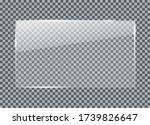 glass plate on transparent...   Shutterstock .eps vector #1739826647