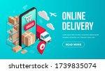 delivery online isometric... | Shutterstock .eps vector #1739835074