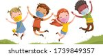 boys and girls are playing...   Shutterstock .eps vector #1739849357