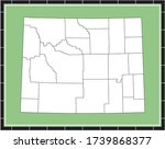 Counties map of Wyoming USA