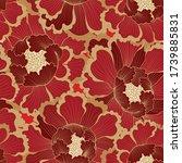 floral pattern. flower seamless ... | Shutterstock .eps vector #1739885831