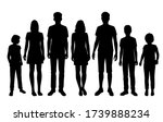 set of vector silhouettes of a... | Shutterstock .eps vector #1739888234