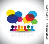 online people icons in social... | Shutterstock .eps vector #173989391