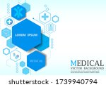 geometric hexagon medical... | Shutterstock .eps vector #1739940794