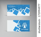 vector  business card. abstract ...